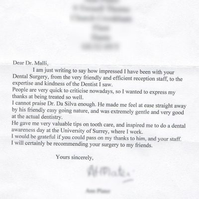 A Letter From A Patient